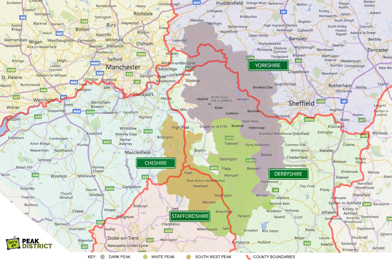 Peak District County Boundaries