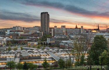 Cityscape view from South Street Park, Sheffield